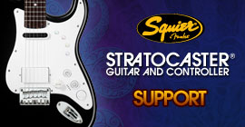 Squier® Stratocaster® Guitar and Controller for Rock Band™ Support