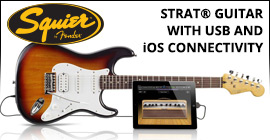 Squier&reg; by Fender&reg; Strat&reg; Guitar with USB and iOS Connectivity