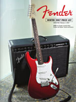 2007 Fender Frontline InStore Price List