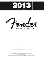 2013 MSRP Price List for Fender®