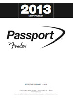2013 MSRP Price List for Passport&reg; by Fender&reg;